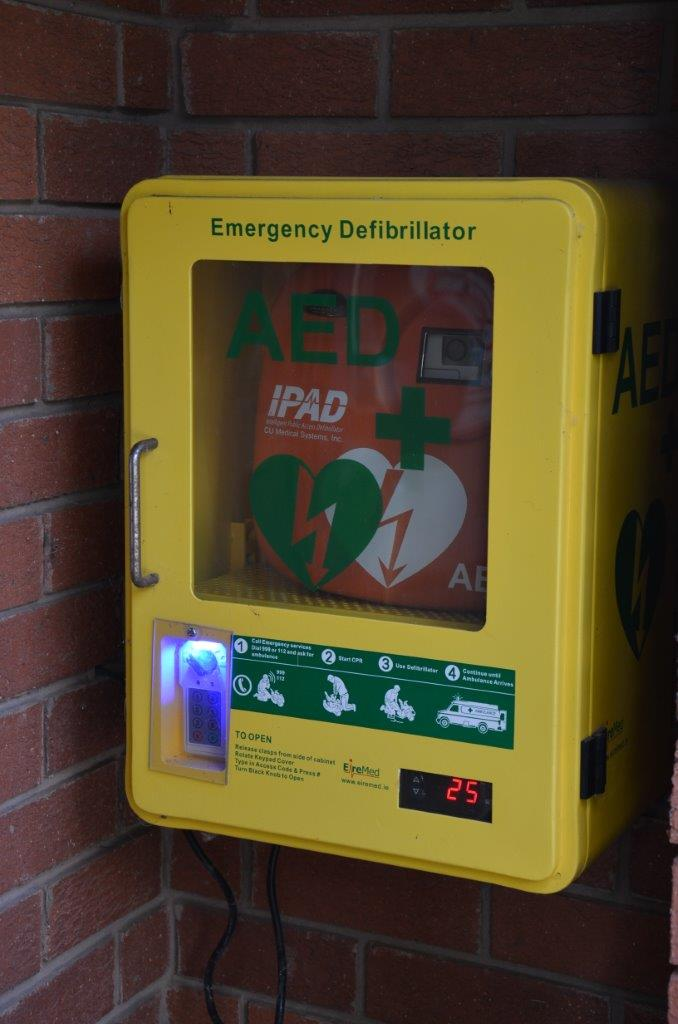 Automated External Defibrillator (AED) at Little Witley Village Hall