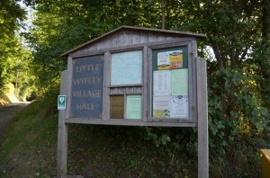 Little Witley Village Hall Sign & Noticeboard