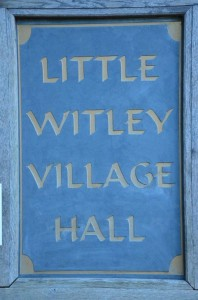 Little Witley Village Hall sign