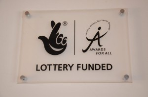 Lottery Funded sign